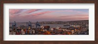 Dawn at Paseo 21 de Mayo, Playa Ancha, ValparaA-so, Chile Fine-Art Print