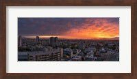 Cityscape at sunset, Santiago, Chile Fine-Art Print
