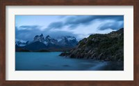 Lake with Mountain, Lake Pehoe, Torres de Paine National Park, Patagonia, Chile Fine-Art Print