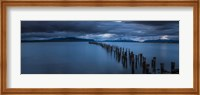 Snowcapped Mountain and Lake at Dusk, Patagonia, Chile Fine-Art Print