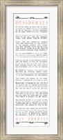 Desiderata Bus Roll Black and Peach Text Fine-Art Print