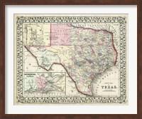 Johnson's Map of Texas Fine-Art Print