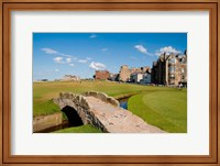 Golfing the Swilcan Bridge on the 18th Hole, St Andrews Golf Course, Scotland Fine-Art Print