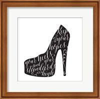 Black & White Heel Fine-Art Print
