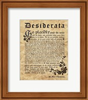 Old English Desiderata Fine-Art Print