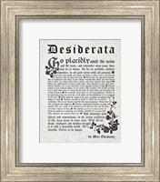 Old English Desiderata In Gray Fine-Art Print
