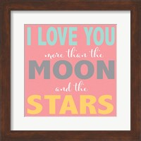 Moon and Stars Girls Fine-Art Print