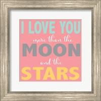 Moon and Stars Girls Fine-Art Print