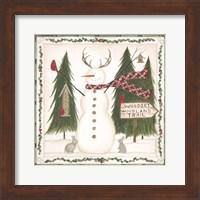 Woodsy Woodland Snowman Fine-Art Print