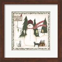 Fishing Hole Snowman Fine-Art Print