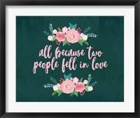 All Because-Teal Fine-Art Print