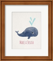 Make a Splash Whale White Fine-Art Print