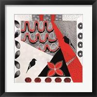 Flower Deco Black and Red II Fine-Art Print