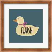 Duck Family Girl Flush Fine-Art Print