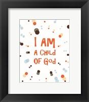 I Am A Child Of God Radial Dots Orange Fine-Art Print