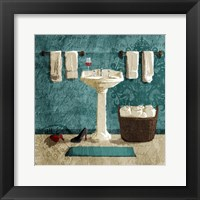 Teal Drink And Heals Fine-Art Print
