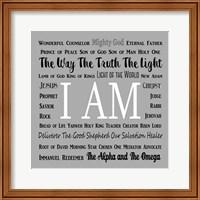 Names of Jesus Square Black and White Text Fine-Art Print