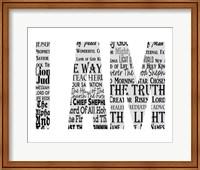 Names of Jesus I AM Silhouette White Fine-Art Print