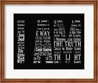 Names of Jesus I AM Silhouette Black Fine-Art Print
