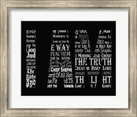 Names of Jesus I AM Silhouette Black Fine-Art Print