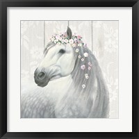 Spirit Stallion II on wood Square Fine-Art Print