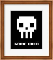 Game Over  - White Skull Fine-Art Print