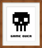 Game Over  - Black Skull Fine-Art Print