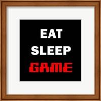 Eat Sleep Game - Black Fine-Art Print