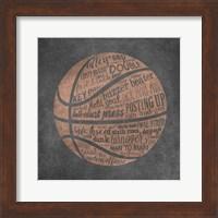 Basketball Terms Fine-Art Print