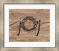 Joy Rustic Wreath Fine-Art Print