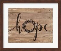 Hope Rustic Wreath Fine-Art Print