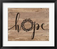 Hope Rustic Wreath Fine-Art Print