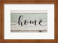 Home (Teal & White Sign) Fine-Art Print