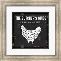 Butcher's Guide Chicken Fine-Art Print