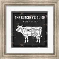Butcher's Guide Cow Fine-Art Print