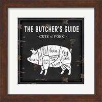 Butcher's Guide Pig Fine-Art Print