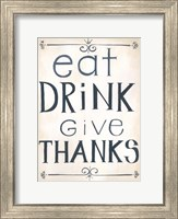 Eat, Drink Fine-Art Print