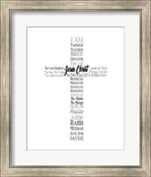 Names of Jesus Cross Silhouette White Fine-Art Print