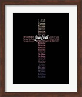 Names of Jesus Cross Silhouette Pink Ombre Fine-Art Print