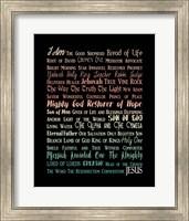 Names of Jesus Rectangle Orange Ombre Text Fine-Art Print