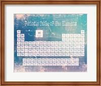 Periodic Table Blue Grunge Background Fine-Art Print