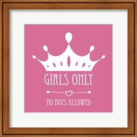 Girls Only Crown White on Pink Fine-Art Print