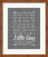 Hold Him A Little Longer - Gray Fine-Art Print