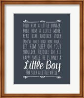 Hold Him A Little Longer - Blue Fine-Art Print