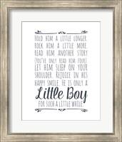 Hold Him A Little Longer - White Fine-Art Print