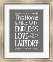 Endless Love and Laundry - Gray Fine-Art Print