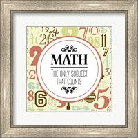 Math The Only Subject That Counts Red Fine-Art Print