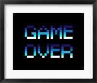 Game Over  - Blue Fine-Art Print