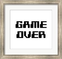 Game Over  - White Fine-Art Print