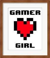 Gamer Girl  - White Fine-Art Print